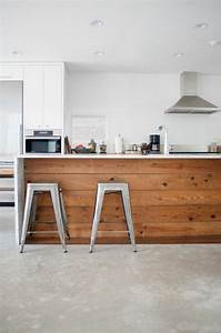 cuisine bois beton cire wrastecom With cuisine beton cire bois