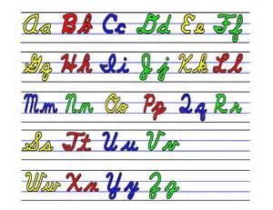 Upper and Lower Case Cursive Alphabet