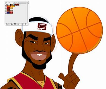 Lebron Basketball Cartoon James Cartoons Clipart Character