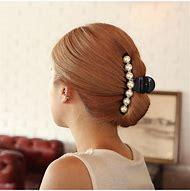 Black Big Rhinestone Hairpins For Women Pear…