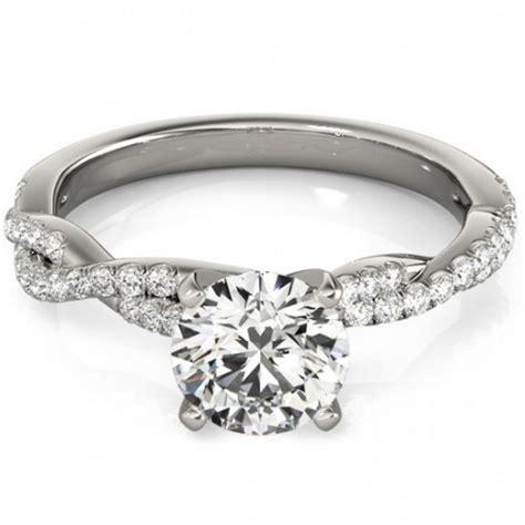 12ct Diamond Engagement Ring Infinity Twist 14k White