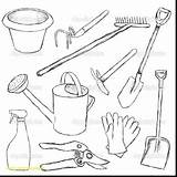 Tools Coloring Pages Gardening Tool Printable Garden Drawing Utensils Hand Cooking Sheets Belt Names Kitchen Preschool Getdrawings Additional Equipment Handy sketch template
