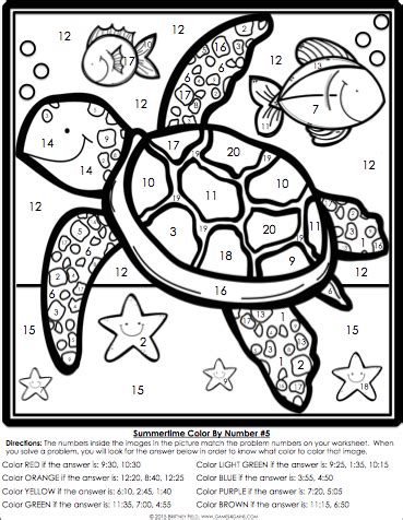 math coloring worksheets 2nd grade color by number math review for 2nd grade 4 gains