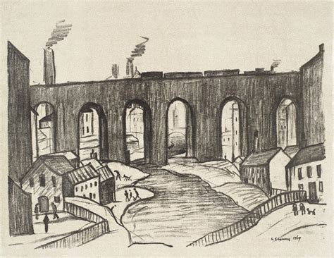 'the Viaduct, Stockport', L.s. Lowry