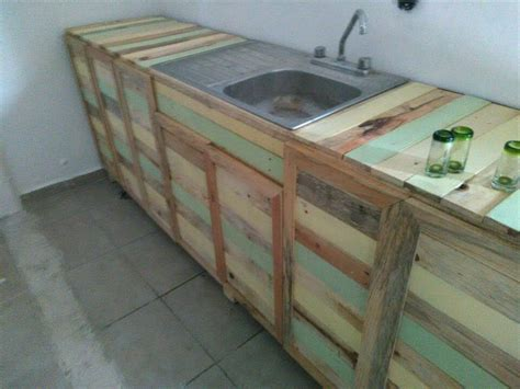 diy projects kitchen cabinets pallet wood kitchen counter with sink 101 pallets 6879