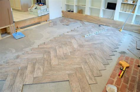Installing Herringbone Floor Tile — New Home Design