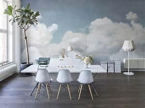 1000 idees a propos de papier peint nuage sur pinterest for Salle À manger contemporaineavec lit À eau