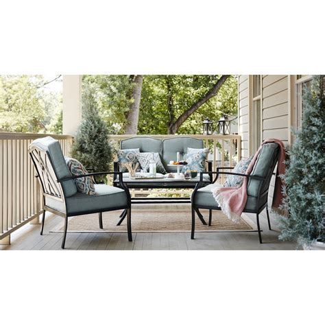Shop Patio Furniture by Shop Garden Treasures Cascade Creek 2 Steel Patio