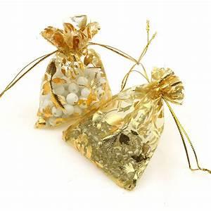 Pochette Rose Gold : gold 7x9cm rose organza packaging bags pochette tulle bonbon wedding gift bags retail packaging ~ Teatrodelosmanantiales.com Idées de Décoration