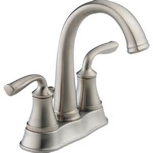 delta lorain brilliance stainless 2 handle 4 in centerset