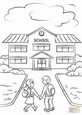 Coloring Going Pages Boy Printable Drawing Simple Report Colouring Sheets Child Print Supercoloring Building Preschool Cartoons Holding Card Worksheet Work sketch template