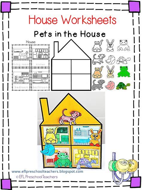 eslefl preschool teachers house worksheets