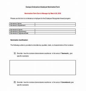 image gallery nomination form With employee of the month nomination form template