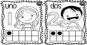 Tarjetas Para Colorear Y Repasar Los Nmeros Del 1 Al 10 Imagenes Educativas