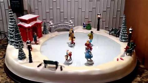 mr christmas holiday skaters winter skating pond musical