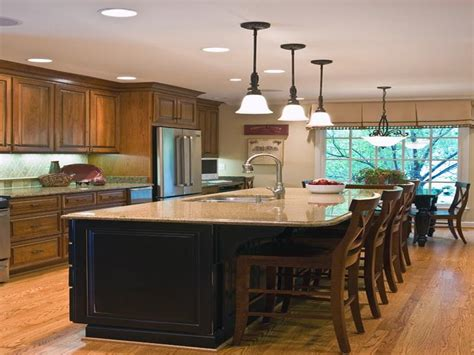 kitchen designs with island five kitchen island with seating design ideas on a budget