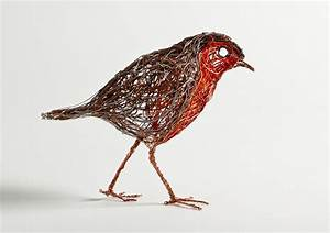 Bird Sculptures Constructed From Wire By Celia Smith Look