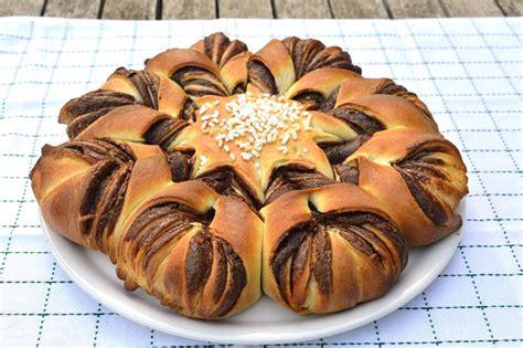 fiore dolce alla nutella fiore di pan brioche alla nutella bimby tm31 tm5