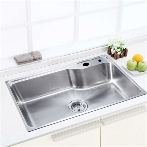 large capacity single bowl kitchen sink
