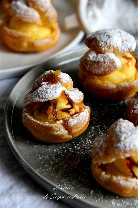 recette cap cuisine choux à la crème pâtissière et éclats de caramel l