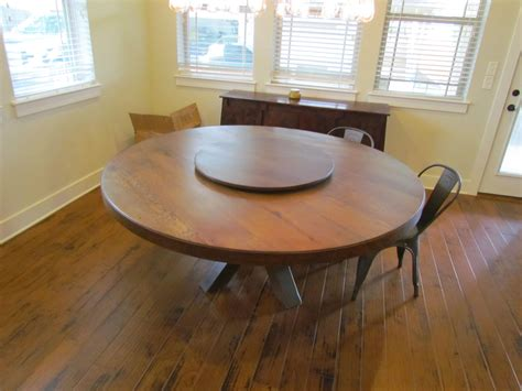 "Buy a Hand Made White Oak 72"" Round Dining Table With Lazy ..."