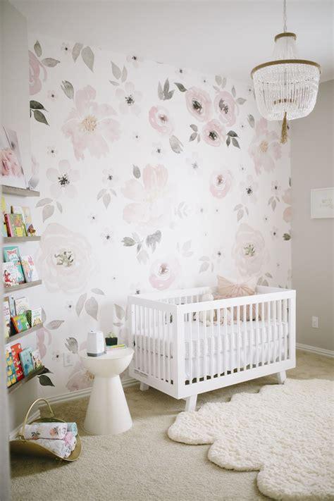 watercolor floral  match   nursery heaven gray