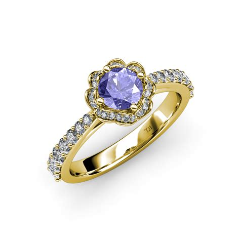 Tanzanite & Diamond (si2i1, Gh) Floral Halo Engagement. Pale Blue Rings. Hebrew Wedding Rings. Citadel Rings. De Beer Engagement Rings. Surrounded Rings. Pansy Rings. True Rings. Hallmark Rings
