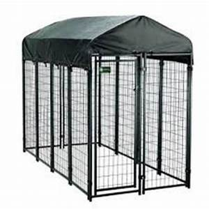 4 ft x 8 ft x 6 ft welded wire dog fence kennel kit With wire fence dog kennel
