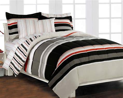 twin boy comforter sets nautical stripe gray 5p boys bedding set ebay