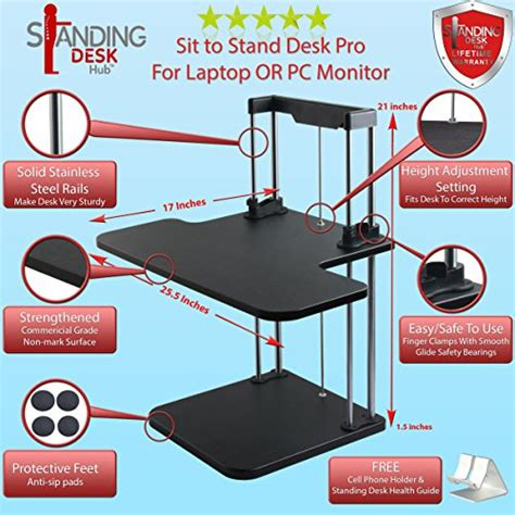 standing desk hub sit stand desk converter adjustable to