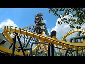 Batman The Ride Backwards off-ride HD @60fps Six Flags ...