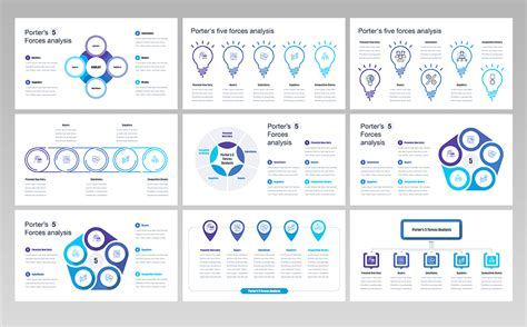 porters  forces analysis powerpoint template