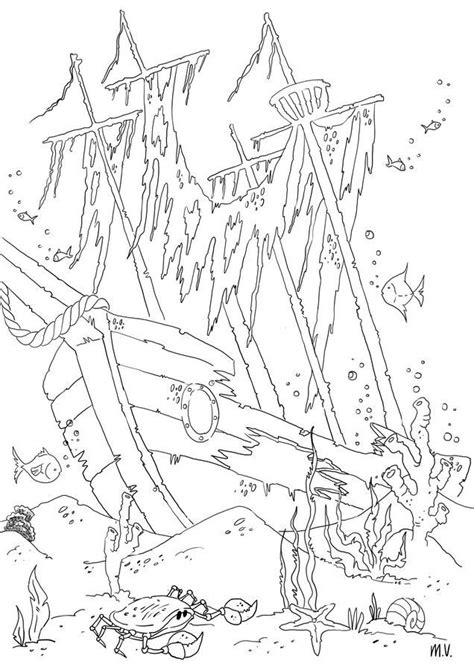 shipwreck coloring pages  google search pirate