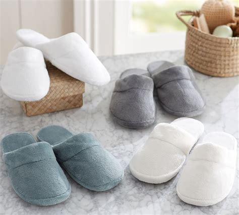 pottery barn slippers pottery barn luxe cozy slippers only 6 79 free shipping
