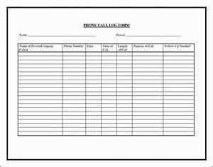 9 Printable Phone Log - Sampletemplatess