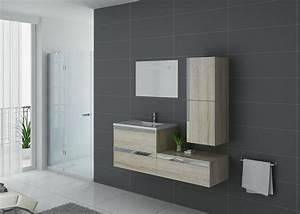 Meuble De Salle De Bain Solde : meuble de salle de bain 1 vasque couleur bois scandinave ~ Teatrodelosmanantiales.com Idées de Décoration