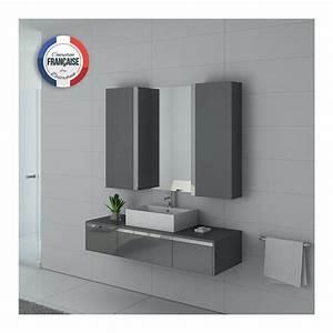 Meuble Salle De Bain Gris : dis9650gt meuble salle de bain gris taupe laqu ~ Teatrodelosmanantiales.com Idées de Décoration