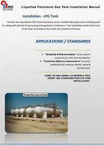 Liquefied Petroleum Gas Tank Installation Manual