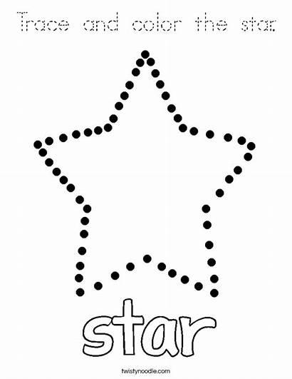 Trace Star Coloring Preschool Shape Noodle Worksheet