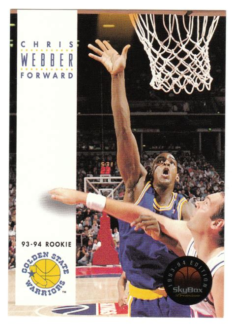We did not find results for: Chris Webber RC # 227 - 1993-94 SkyBox Premium Basketball NBA Rookie   Chris webber, Basketball ...