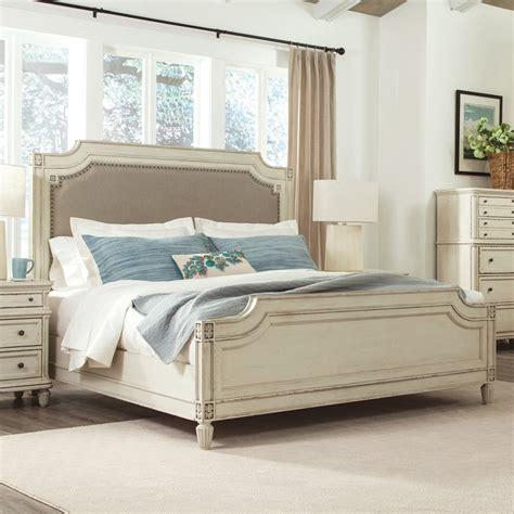 bed frame support slats huntleigh wood upholstered panel bed in vintage white