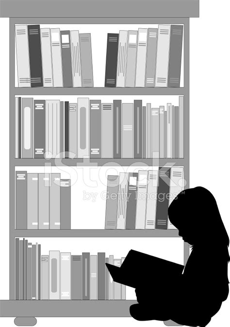 Silhouette of A Girl Reading A Stock Vector - FreeImages.com