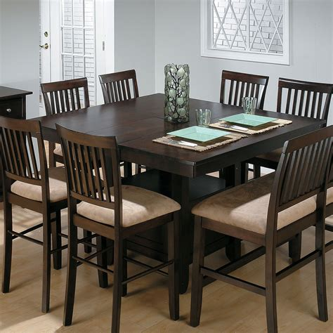high top dining room table with leaf jofran bakers cherry counter height table with 1 bench and