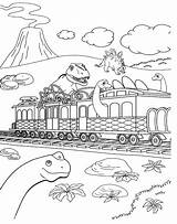 Train Coloring Dinosaur Preschool Entitlementtrap Brilliant Printable Dino Agmc sketch template