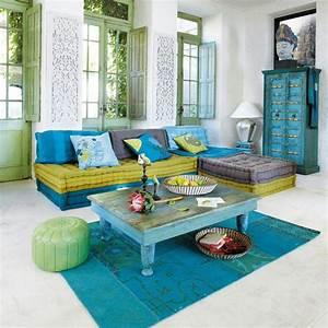 Sofas Maison Du Monde : exotique maison du monde interior design blue rooms ~ Watch28wear.com Haus und Dekorationen