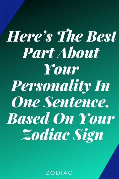 Heres The Best Part About Your Personality In One
