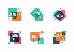 Referral Template Free Join Us Badge Set Download Free Vectors Clipart
