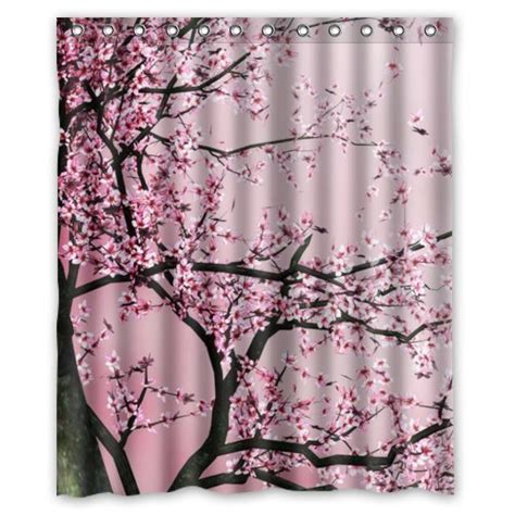 Japanese Cherry Blossom Bathroom Decor by Pretty Cherry Blossom Shower Curtain