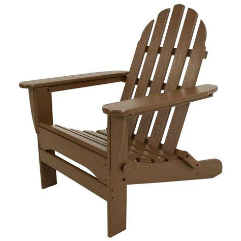 polywood adirondack chairs polywood classic teak patio adirondack chair ad5030te