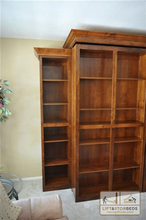 Murphy Bookcase by Side Bookcase On Murphy Bed